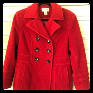 VSt. John's bay  red pea coat - small